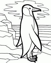 download lonely penguin coloring page or print lonely penguin