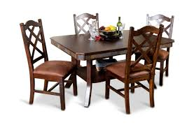 santa fe double butterfly table with 4 side chairs hom furniture