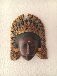 indian wooden wall mask in portsmouth hshire gumtree