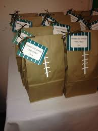 football party favors bags silver vintage football party favors