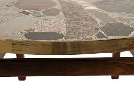 stone and glass coffee table stone coffee tables brilliant innovative table round in 4 ideas