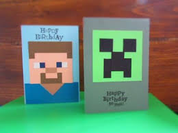 minecraft cards 25 best minecraft birthday card ideas on food cards
