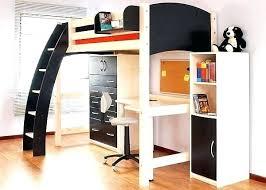 bureau surélevé lit sureleve avec bureau integre mezzanine avec bureau lit