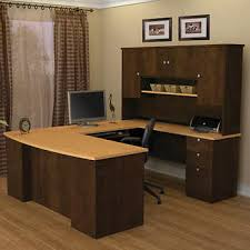 U Shape Desks Merritt U Shape Desk With Hutch