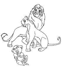 simba nala coloring pages kids coloring
