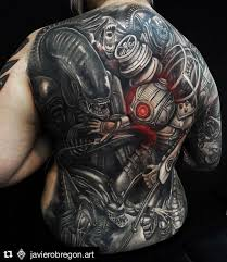 41 biomechanical tattoos designs from future 2017