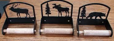 moose r us com rustic black iron wildlife bathroom toilet tissue