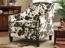Animal Print Furniture by Furniture 22 Brown White Cow Print Accent Chair Caravana