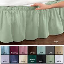 amazon com wrap around bed skirt easy fit elastic dust ruffle