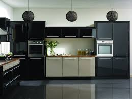 Matte Appliances Cool Industrial Kitchen With Matte Black Appliance And Mosaic