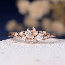 verlobungsring vintage myray 14 karat roségold natürliche diamant verlobungsring vintage