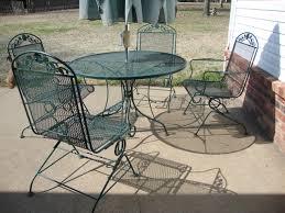 wrought iron patio table set awesome furniture vintage wrought iron