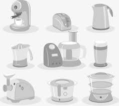appareil en cuisine le vecteur de la de l appareil de cuisine vecteur peint à