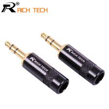 aliexpress buy hot gold plated 5mm 3 5mm tungsten 3pcs 3 5 3 poles 3 5mm audio gold plated headphone 3 5 rca