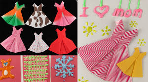diy mother u0027s day gift idea origami dress cards fun with 3d