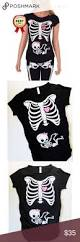 Halloween Maternity Skeleton Shirt by