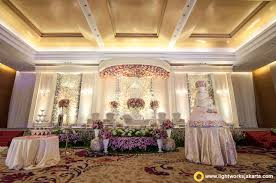 the elegant wedding stage for yudi and anggraini wedding reception