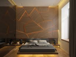 Design Bed by Stunning Bedroom Lighting Design Which Makes Effect Floating Of