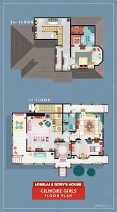 8 home floor plans from cult tv shows homes com gilmore girls gilmoregirls
