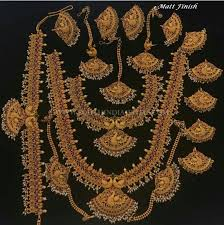 bridal set for rent matt finish antique bridal jewellery set south india jewels