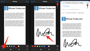 how to sign an email attachment on iphone