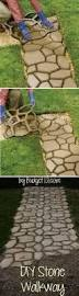 30 creative pathway walkway ideas for your garden designs hative diy faux stone walkway with concrete