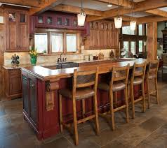 Rustic Kitchen Island Ideas Incomparable Rustic Kitchen Island With Seating Also Rubbed