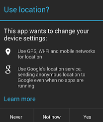 enable location services android android how to show enable location dialog like maps