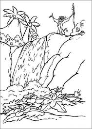rainforest waterfall coloring page best waterfall 2017