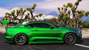 Black Mustang With Green Stripes 2015 Ford Mustang Gt Add On Gta5 Mods Com
