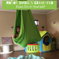 diy indoor swing u0026 crash pad teach me mommy