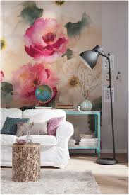 Wallpapers In Home Interiors Wall Design With Rose Wallpapers For A Romantic Flair At Home