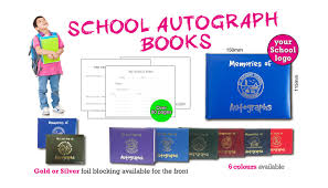 personalized autograph books personalised school autograph books from printstar ltd in gillingham