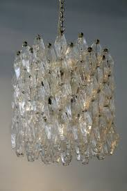 Venini Chandelier Clear Polyhedral Chandelier By Carlo Scarpa For Venini Todd