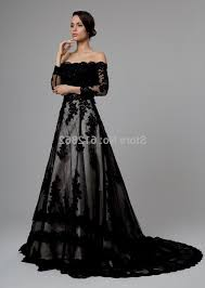 black wedding dress black wedding dresses with lace sleeves naf dresses