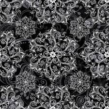 imagenes blancas en fondo negro fondo negro transparente con todo el patrón de flores blancas