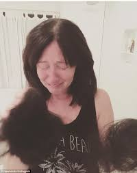 hair extensions post chemo toronto shannen doherty shares instagram post of hair loss daily mail online