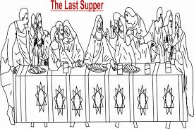 The Last Supper Coloring Printable Page For Kids Last Supper Coloring Page
