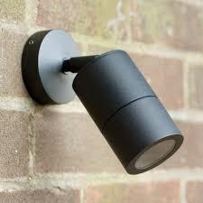 12v outdoor wall lights elipta adjustable garden spot wall light matt black 12v mr16 ip66