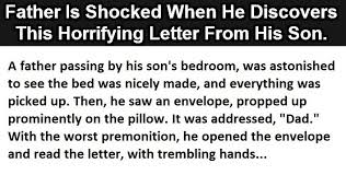 Father And Son Meme - father is shocked when he discovers this horrifying letter from