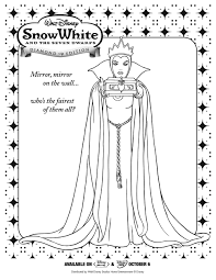 snow white queen coloring page printables for kids u2013 free word