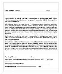 sample police report template u2013 13 free word pdf documents