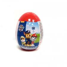 kinder suprise egg egg with 3d paw patrol as kinder egg