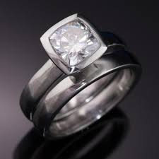 Engagement Rings And Wedding Band Sets by Bezel Rings