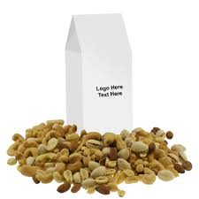 customized large gable box with mixed nuts is the right promotional