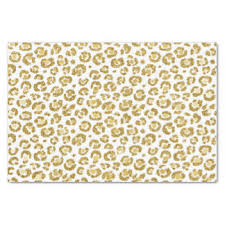 cheetah print tissue paper gold cheetah craft tissue paper zazzle
