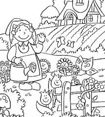 flowers garden 3 coloring page free coloring pages online