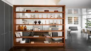 contemporary low bookcase half wall room divider ideas