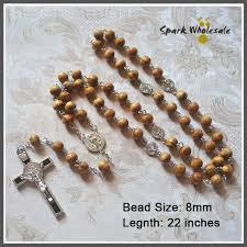 catholic rosary online catholic 8mm pine wood rosary st benedict cross