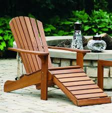 Patio Chairs With Ottoman Amazon Com Outdoor Interiors Cd3111 Eucalyptus Adirondack Chair